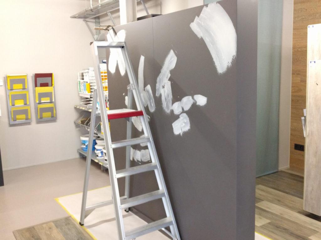 Verfwinkel Schoeters test muur