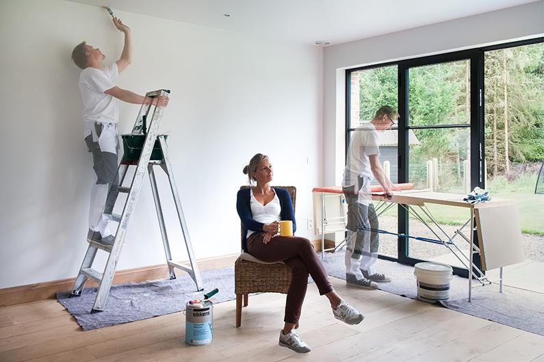 Droom je ervan om je interieur te schilderen als een for Interieur schilderen